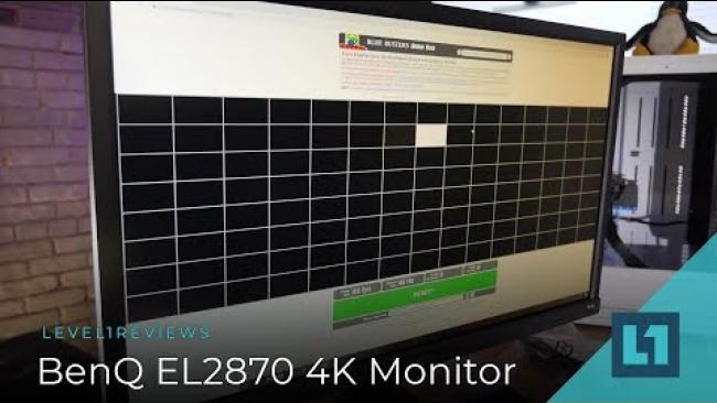 Embedded thumbnail for BenQ EL2870 28 Inch 4K Gaming Monitor Review