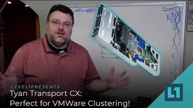 Embedded thumbnail for Tyan Transport CX: Perfect for VMWare Clustering! Our build with Epyc 7743