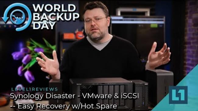 Embedded thumbnail for Synology Disaster - VMware & iSCSI -- Easy Recovery w/Hot Spare