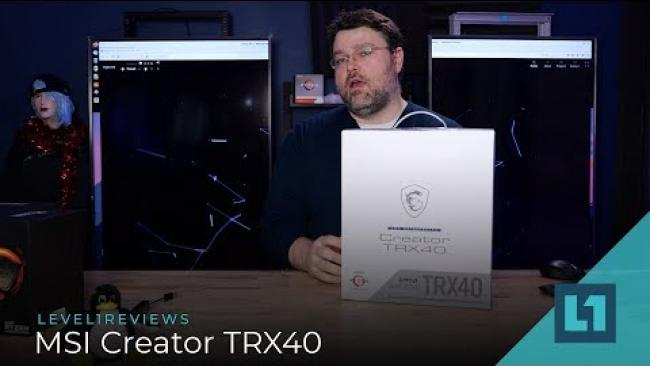 Embedded thumbnail for MSI Creator TRX40 Motherboard Review