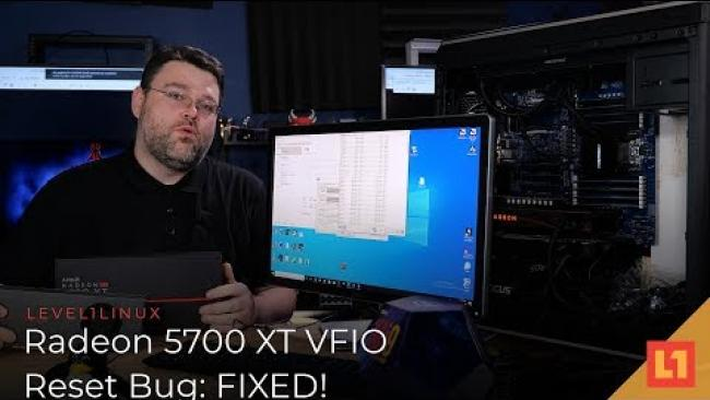 Embedded thumbnail for Radeon 5700 XT VFIO Reset Bug: FIXED!