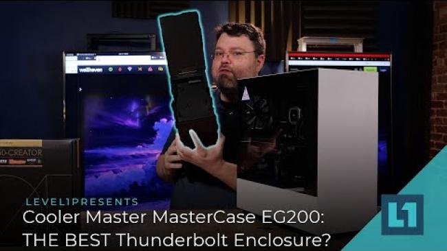 Embedded thumbnail for Cooler Master MasterCase EG200: THE BEST Thunderbolt Enclosure? Tested on Thunderbolt 4!