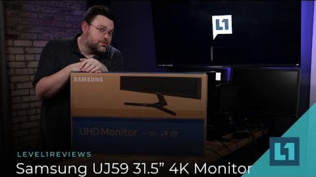"Embedded thumbnail for Samsung UJ59 31.5"" 4K Monitor Review"