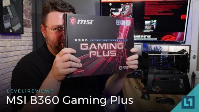 Embedded thumbnail for MSI B360 Gaming Plus Motherboard Review + Memory Test + Linux Test