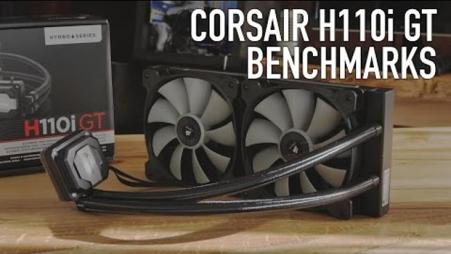 Embedded thumbnail for Corsair H110i GT 280mm Liquid CPU Cooler Review, Benchmarks, & Overclocking Tests