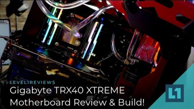 Embedded thumbnail for Gigabyte TRX40 AORUS XTREME Review & Build!
