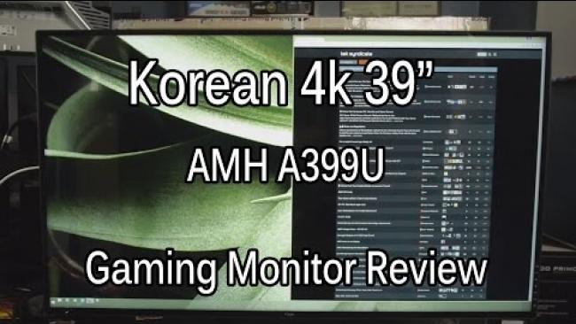"Embedded thumbnail for Affordable 39"" 4k Gaming Monitor - The AMH A399U"