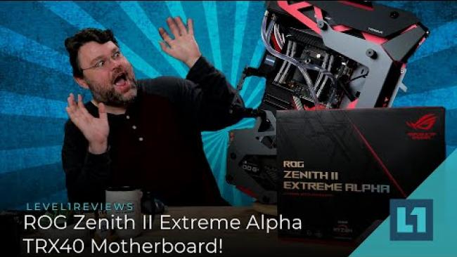 Embedded thumbnail for ROG Zenith II Extreme Alpha TRX40 Motherboard Review + Linux Test!