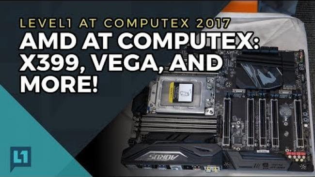 Embedded thumbnail for AMD News Roundup: X399, Threadripper, Vega Demos, and More! (Early June 2017)