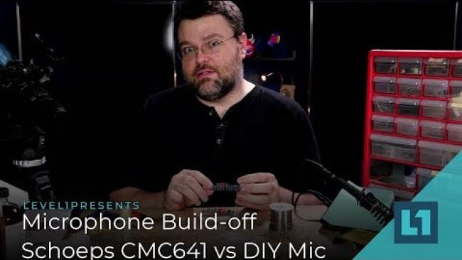 Embedded thumbnail for Level1 Project: Microphone Build-off -- Schoeps CMC641 vs Wendell Built DIY Mic
