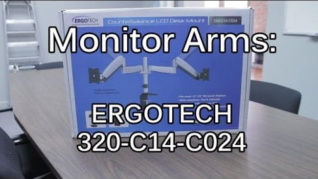 "Embedded thumbnail for Ergotech Monitor Arms - Unboxing & Dual 27"" Setup"