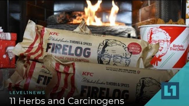 Embedded thumbnail for Level1 News December 13 2019: 11 Herbs and Carcinogens