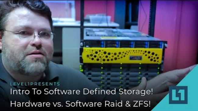 Embedded thumbnail for Intro To Software Defined Storage! Hardware vs. Software Raid & ZFS!