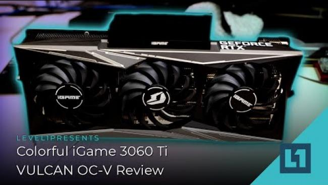 Embedded thumbnail for Colorful iGame 3060 Ti  VULCAN OC-V Review
