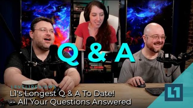Embedded thumbnail for L1's Longest Q & A To Date! -- All Your Questions Answered