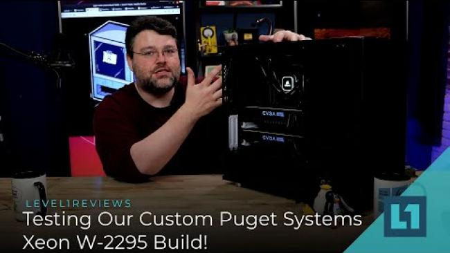 Embedded thumbnail for Testing Our Custom Xeon W-2295 Build From Puget Systems!