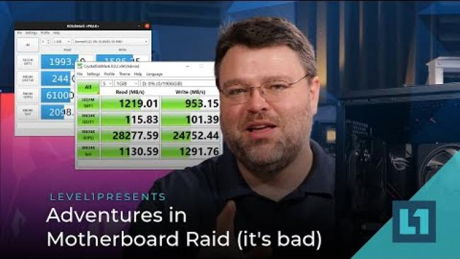 Embedded thumbnail for Adventures in Motherboard Raid (it's bad)