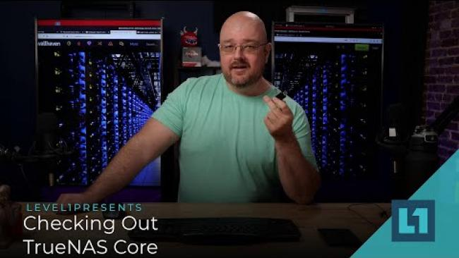 Embedded thumbnail for Checking Out TrueNAS Core