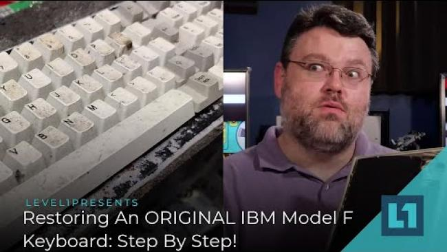 Embedded thumbnail for Restoring An ORIGINAL IBM Model F Keyboard: 35 Years later