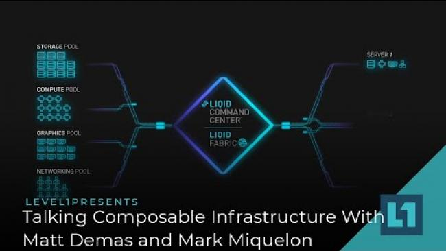 Embedded thumbnail for What Is Composable Infrastructure? Liqid's Matt Demas and Western Digital's Mark Miquelon Tell Us